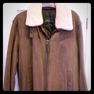 Men's nubuck coat